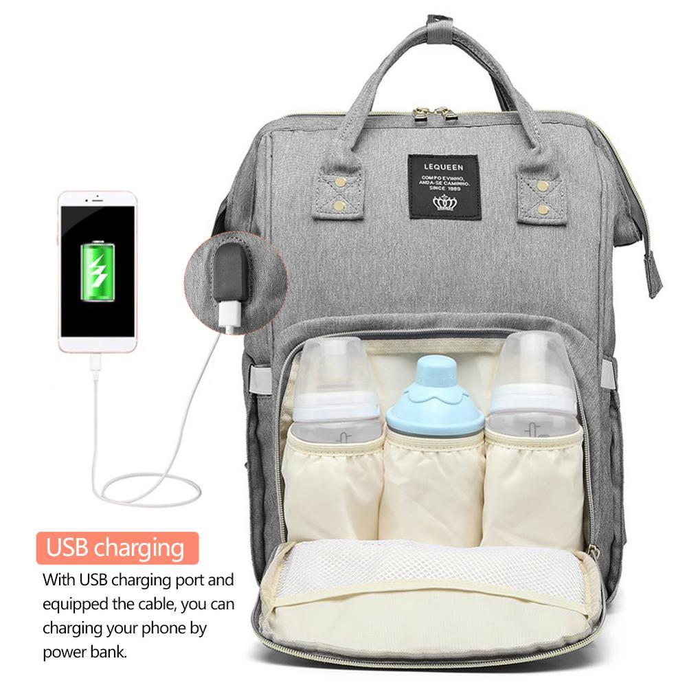 Mummy Maternity Nappy Bag USB Charging Stroller Bolsa Large Capacity Baby Travel Backpack Mommy Nursing Bag Care  Diaper Bags
