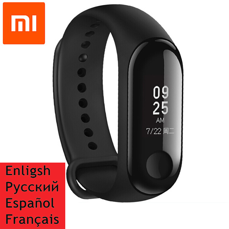 Original Xiaomi Mi Band 2 Miband 3 Mi Band 3 Wristband Bracelet Smart Heart Rate Monitor Fitness Tracker Touchpad OLED Strap цена