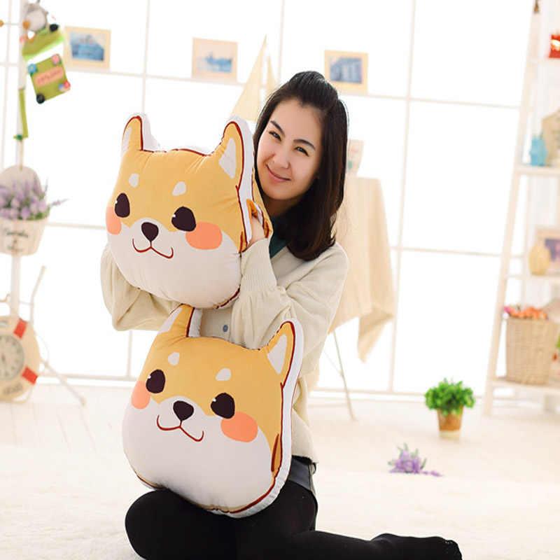 Оптовая продажа, милые плюшевые игрушки с желтой собакой, Шиба ину, зимняя теплая мягкая подушка для рук, Подушка-подарок на день рождения, для маленьких девочек