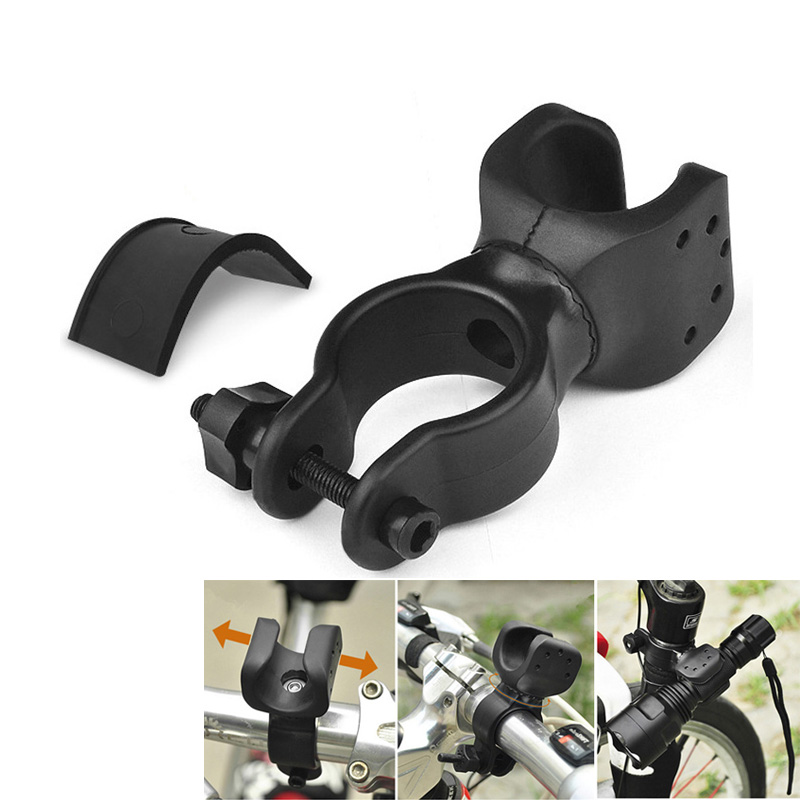 New Universal Bike Flashlight LED Torch Mount Clip 360 Degree Rotation Cycling Clip Clam ...
