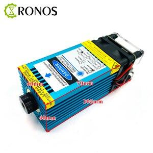Image 2 - 5.5w 450nm mavi lazer modülü lazer odaklama gravür ve kesme TTL modülü 5500mw lazer gravür olabilir ahşap