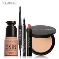FOCALLURE New 5Pcs New Women Value Pack Makeup Set Gift Liquid Eyeliner Eye Liner Pen Eyebrow
