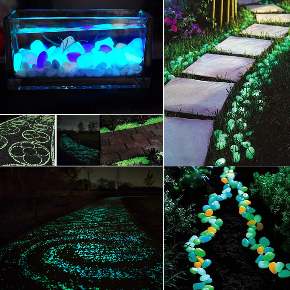 Glow in the dark crafts - 1kg About 390pcs Glow In The Dark Luminous Pebbles Stones For Wedding Romantic Evening