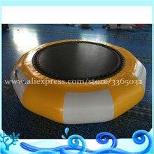 Горячая Распродажа герметичный привлекательный озеро ПВХ надувной батут/батут плавающий для водных видов спорта игры