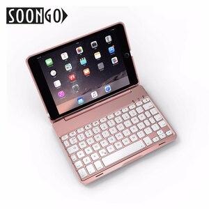 Image 4 - SOONGO 7.9 Inch Wireless Bluetooth Keyboard Cover for ipad mini4 Clamshell Backlit Keypad for Apple ipad mini4 Tablet Keyboard