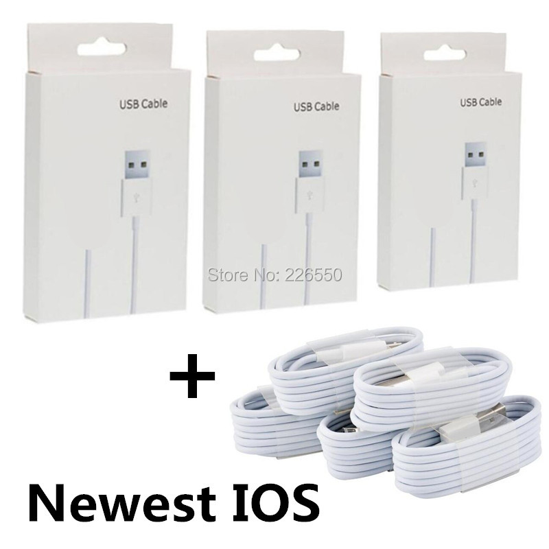 Charger accessory bundles Free shipping 100pcs 8pin usb data sync charging  cable +100pcs retail package box for iphone 5 6 7-in Mobile Phone Accessory