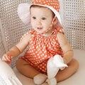 2016 de verão do bebê macacão ponto onda de algodão macacão crianças macacão roupas roupas de bebê da princesa # 63ssy
