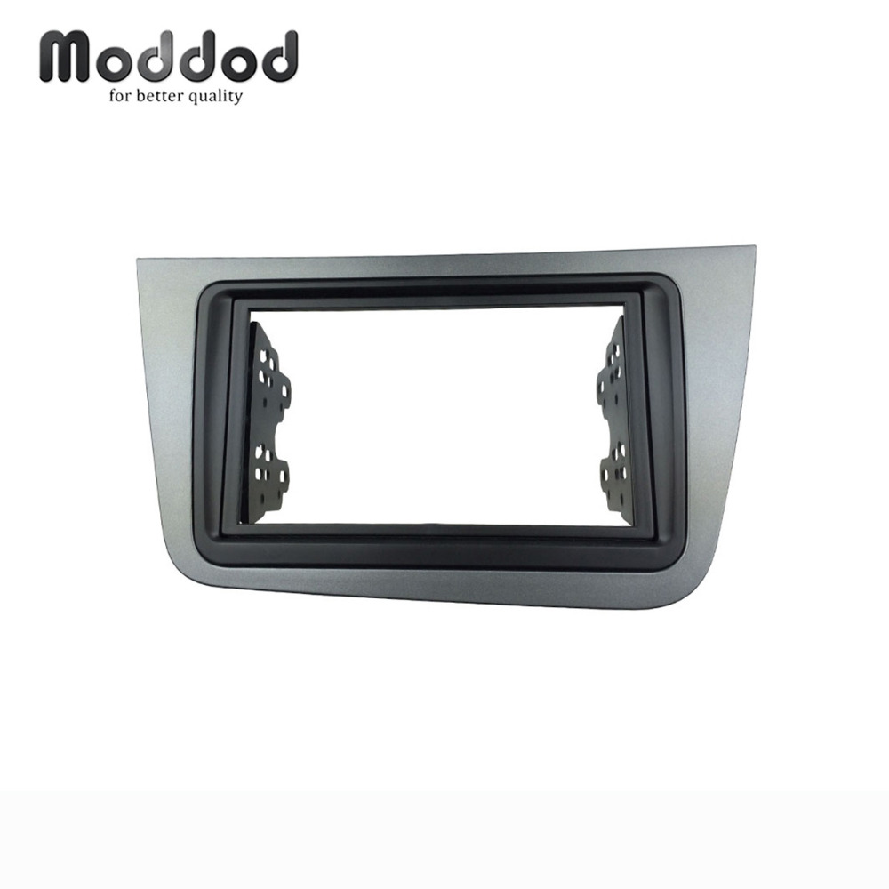цена на Double Din Radio Fascia For SEAT Altea Stereo Panel Dash Installation Mount Trim Kit Face Plate Bezel Facia LHD