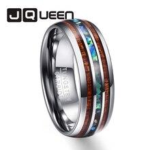 Для мужчин свадебные бренды кольца полностью полированная акации раковину, вольфрама стальное кольцо T025R