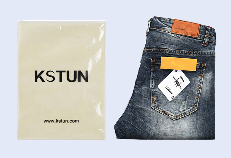 KSTUN Men's Shorts Jeans Dark Blue Stretch Retro Fashion Pockets Designer Poker Printed Ripped Biker Motor Jeans Denim Pants 18