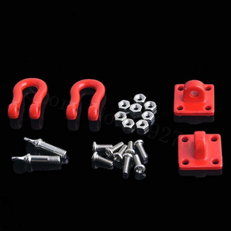 2 יחידות RC רכב חלקי אבזם וו Rock Crawler באגי טיפוס קרוואן וו אבזם עבור 1/10 בקנה מידה מודלים D90 צירי SCX10 CC01