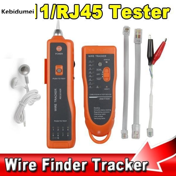 New RJ11 RJ45 Cat5 Cat6 Telephone Wire Tracker Tracer Diagnose Toner Ethernet LAN Network Tool Cable Tester Detector Line Finder