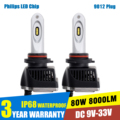 2x 80W 16000LM 9012 LED Headlight Conversion Kit 5700-6000K White Car Truck Replacement Headlamp Beam Bulb Super Bright Headlamp