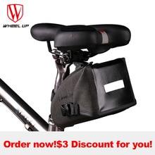 WHEEL UP Reflective Waterproof Tube MTB Mountain Road Bicycle Bag Cycling Saddle Frame Bag Seat Bag