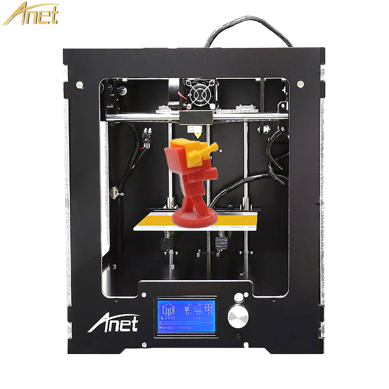 Anet A3 3D Printer Full Assembled Desktop High precision 3d printer 0.4mm nozzle with free 10M Filaments 16GB SD card hot sale wanhao d4s 3d printer dual extruder with multicolor material in high precision with lcd and free filaments sd card