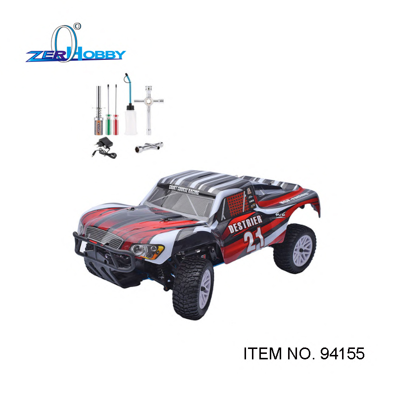 HSP RACING <font><b>RC</b></font> CAR SCT DESTRIER <font><b>1/10</b></font> <font><b>SCALE</b></font> NITRO POWER SHORT COURSE TRUCK WITH GLO STARTER TOOL SET 80142A INCLUDED ITEM 94155 image