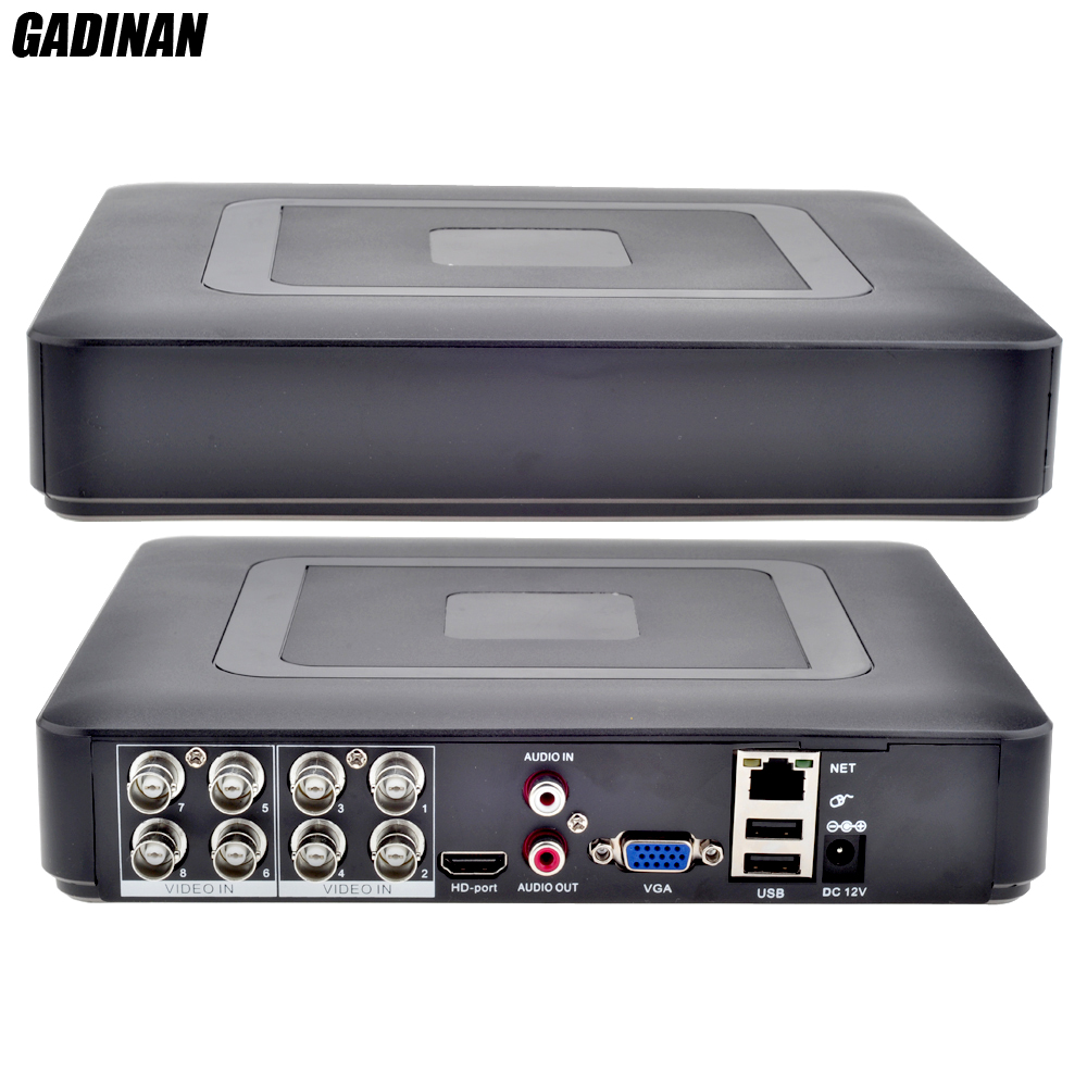 GADINAN 8CH AHDNH 1080N DVR Analog IP AHD TVI CVI 5 In 1 DVR 4CH Analog 1080P Support 8 channel AHD 1080N/4CH 1080P Playback