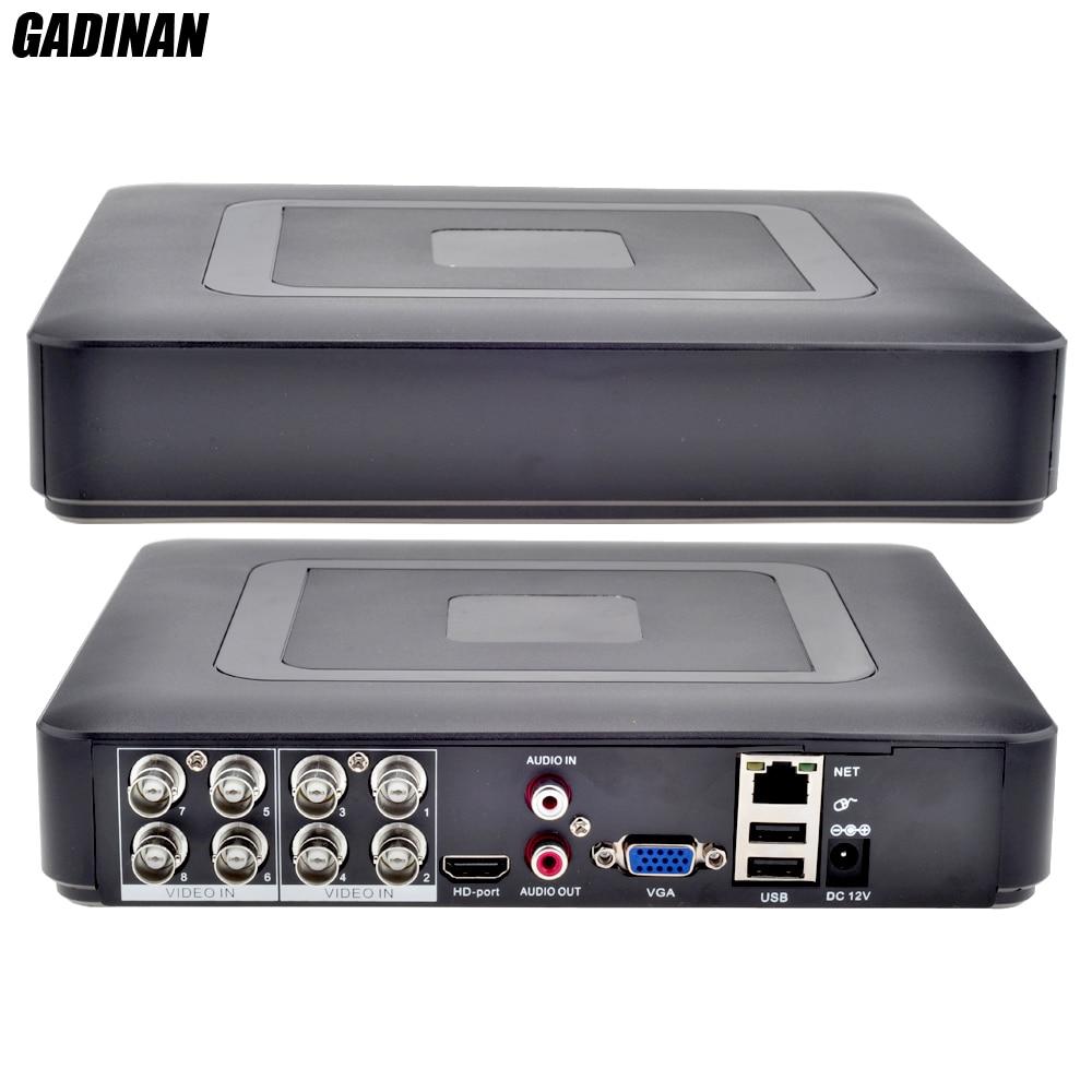 GADINAN 8CH AHDNH 1080N DVR аналоговый IP AHD TVI CVI 5 в 1 DVR 4CH аналоговый 1080 P поддержка P 8 каналов AHD 1080N/4CH 1080 P воспроизведение