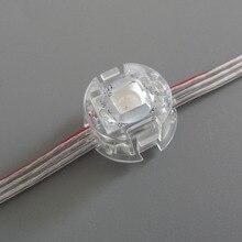 Адресуемый 20 мм диаметр 50 шт. DC5V WS2811 5050 SMD пиксельный модуль; класс IP68; прозрачный провод; с плоским покрытием светодиода