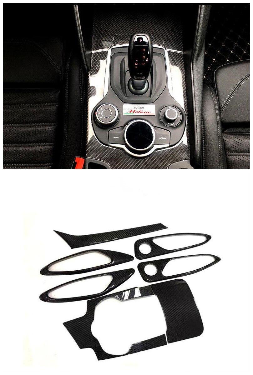 For Alfa Romeo Giulia 2016 2018 Left Hand Driving Carbon Fiber Interior Moldings Central Control Panel
