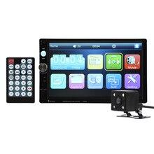 7023B 7 «7-дюймовый 2DIN Автомобиль Сенсорный Экран Авто Радио Аудио-Видео MP4 MP5 Player 1080 P HD TFT Bluetooth FM/USB/AUX + Вид Сзади камера