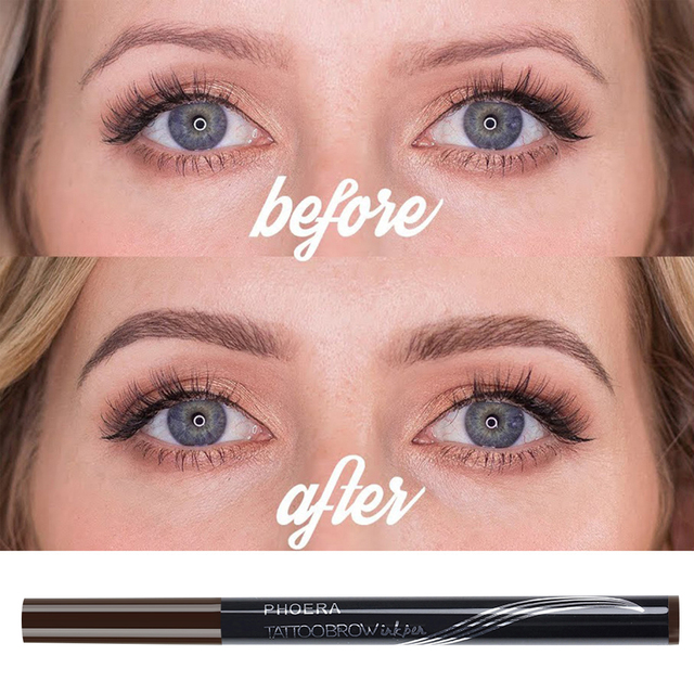 PHOERA  Double Head Eyebrow Pencil  Tattoo Pen With Brush 4
