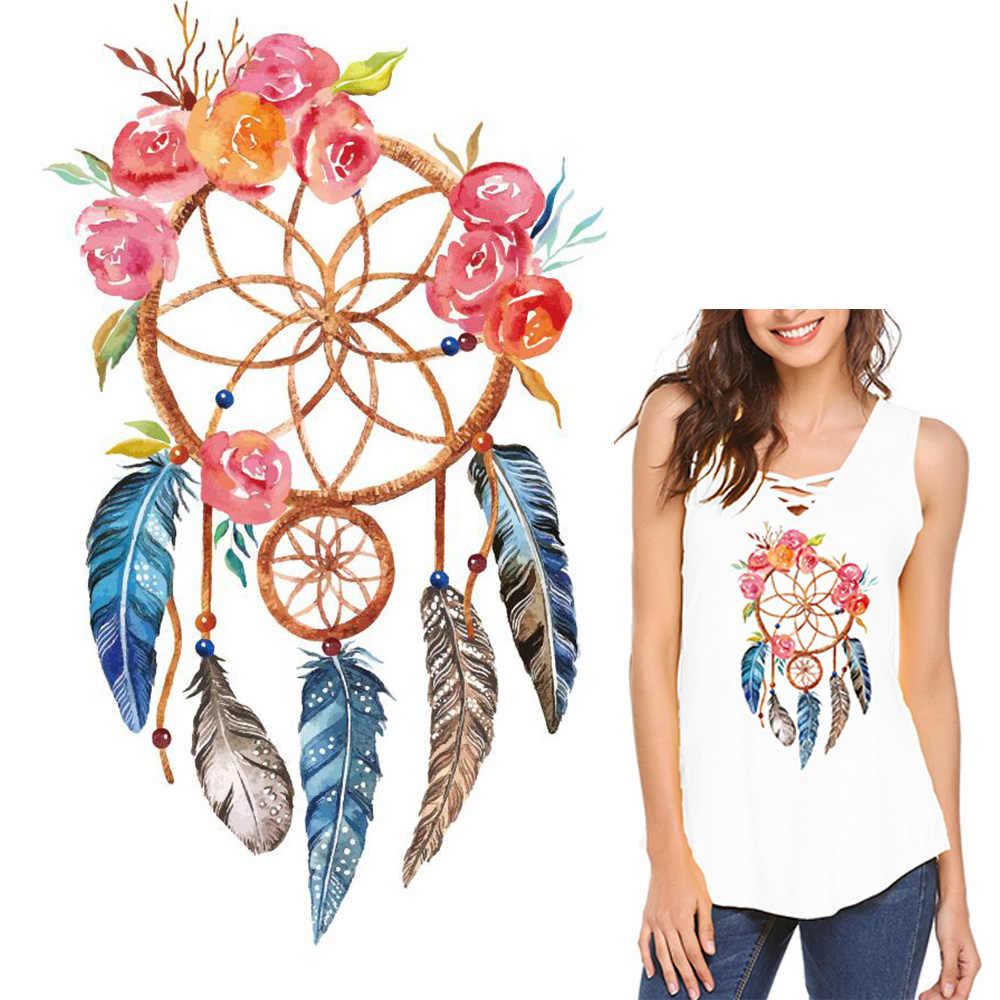 Dreamcatcher melhores desejos remendos ferro na transferência adesivos de transferência de calor remendo para roupas decoração do t-camisa diy remendos de roupas