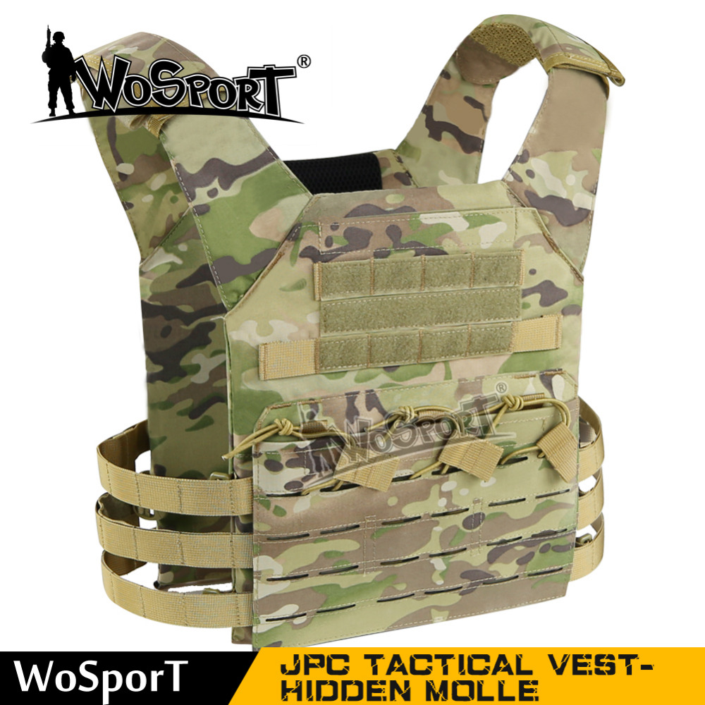 WoSporT Strengthered Mole JPC Tactical Vest  Plate  SWAT Nylon
