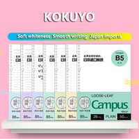 japan KOKUYO Macaron note book loose leaf inner core A5 B5 notebook diary plan binder office school supplies ring binder