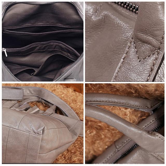 Women 100 Genuine Leather Handbags Soft Natural Skin Daily Bag High Capacity Top Grade Shoulder Bags Quality Handbag