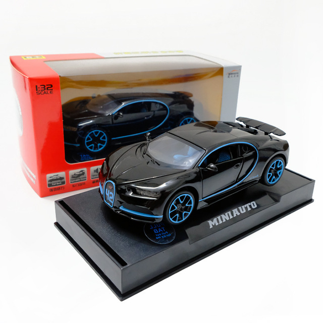 Race Car Model Bugatti Chiron Metal Toy Alloy Car Diecasts Toy Vehicles Car Model Miniature Scale Model Car Toys Boy Toys1:32