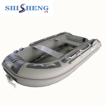 Red&black 0.9mm PVC Aluminium Floor Rubber Inflatable Boats With CE