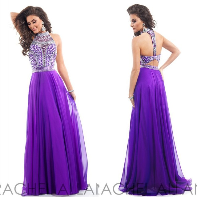 2017 Best Selling Gorgeous High Neck Long Prom Dresses Open Back ...