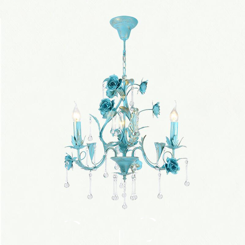 Nortic Blue Metal LED Pendant Lamp Light Kit Chain Lighting Crystal Decor For Living Room Bedroom Hotel Restaurant Cafe Kitchen modern crystal chandelier led hanging lighting european style glass chandeliers light for living dining room restaurant decor