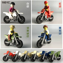 1pcs 12 Style Motorcycle Racing Six Colors Building Blocks Compatible Legoed City Figures Trucks Bricks Children Toys(China)
