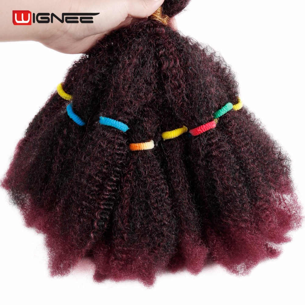 Wignee Synthetic Hair Extensions for Women Afro Kinky Bulk Crochet Twist Braiding Hair Glueless Cosplay Africa BUG Hair Pieces