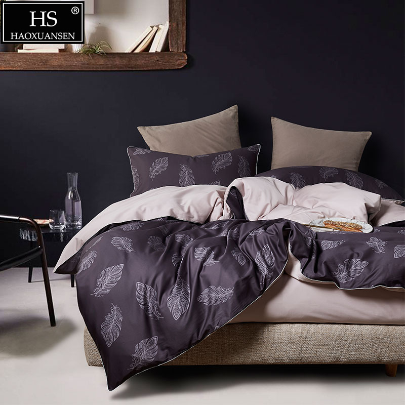 HS Use lmported high-end suit fabric  Egyptia cotton Tropical plant printing 4Pcs bedding the bachelors boxed set Comforter setHS Use lmported high-end suit fabric  Egyptia cotton Tropical plant printing 4Pcs bedding the bachelors boxed set Comforter set