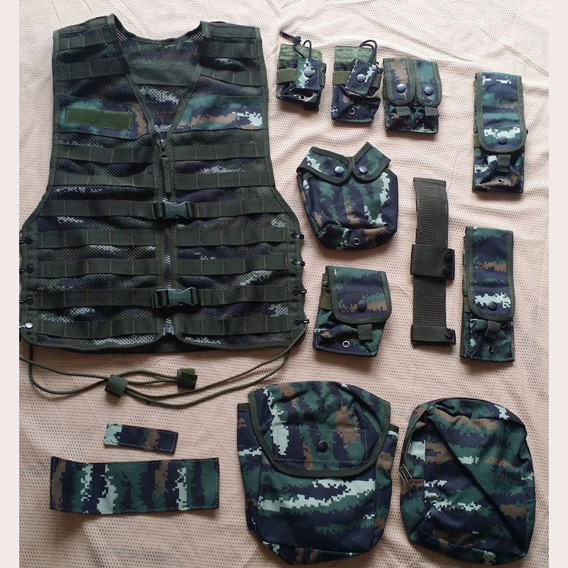 Tactical Vests Military Twelve Sets Combination Vest Molle Camo Paintball Army Airsoft Armor Vest Bulletproof Vest Colete Oxfor airsoft adults cs field game skeleton warrior skull paintball mask