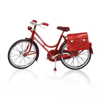 Kreatywny stary rower Model ozdoby antyczne w stylu Vintage mężczyźni rower z nadmuchiwane lżejsze miniaturowe rzemiosło biuro w domu dekoracji