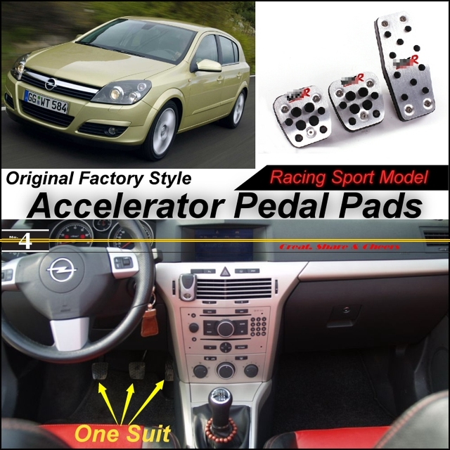 US $46 44 |Car Accelerator Pedal Pad / Cover of Original Factory Sport  Racing Model Design For Opel Astra H J Tuning-in Pedals from Automobiles &