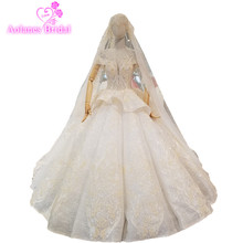 AOLANES Bridal Gowns Floor-length Ball Gown