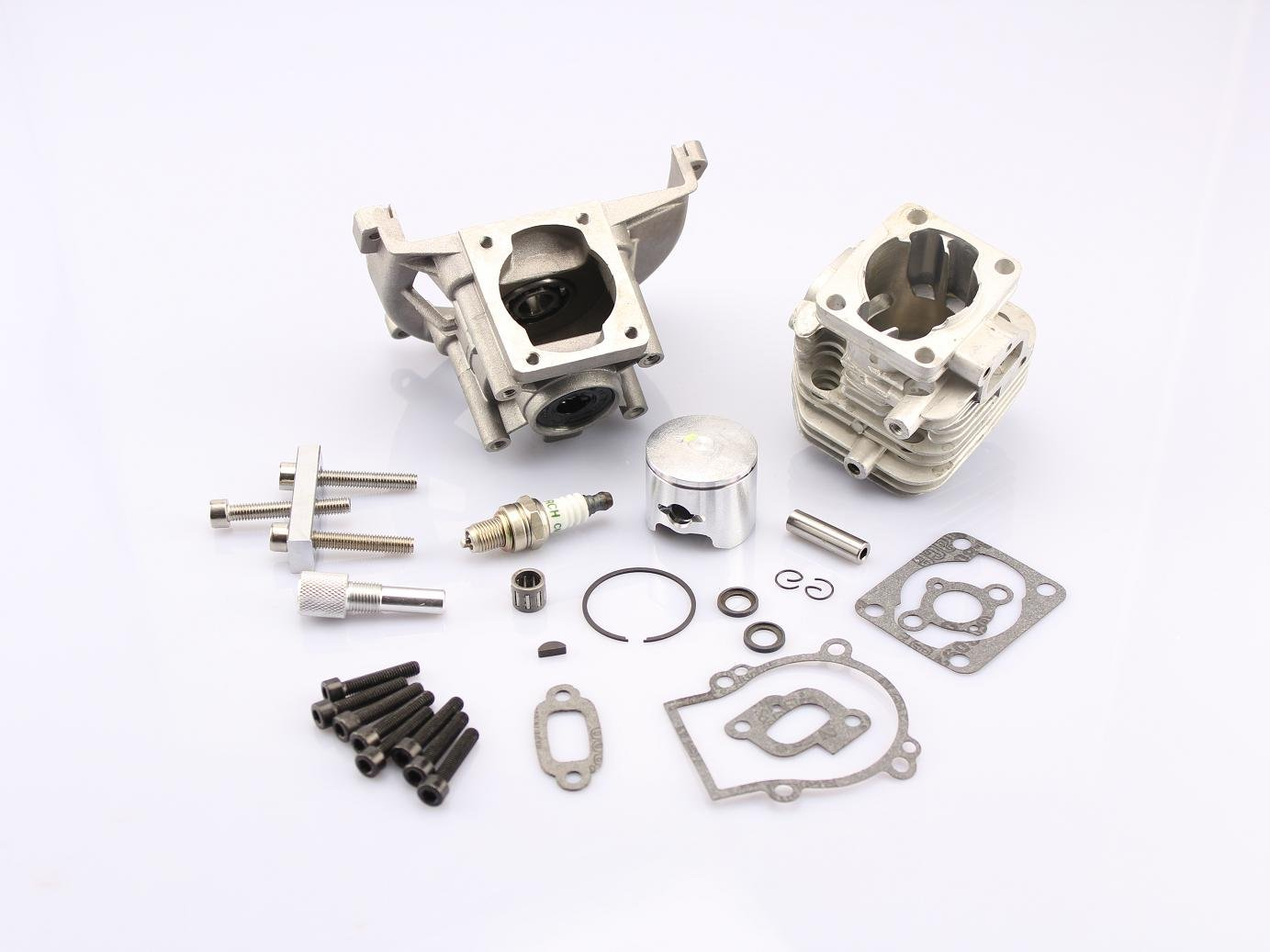 29CC four-point fixed engine parts kit for 1/5 baja HPI KM 5B 5T 5SC rc car baja parts 2 change 4 bolt engine 30 5cc big bore upgrade kit for 1 5 hpi baja 5b 5t km