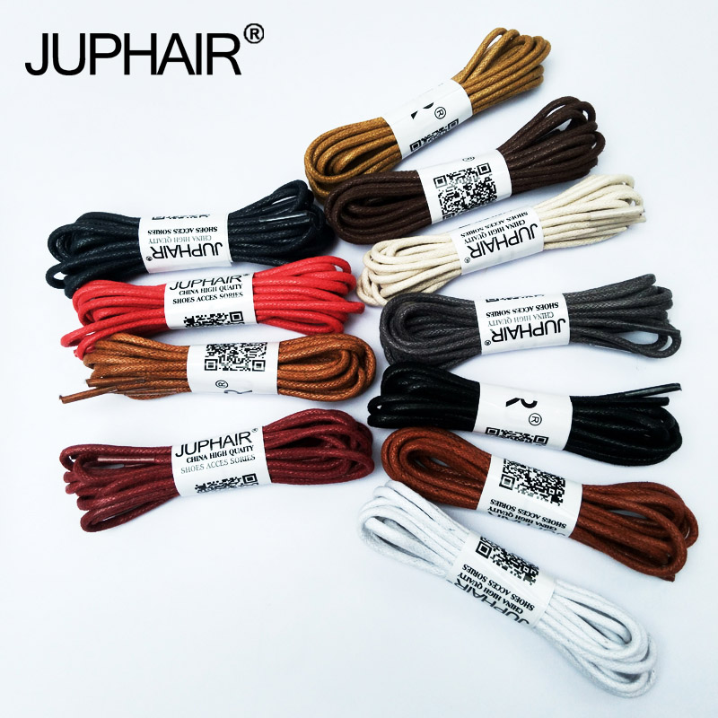 JUP 1 Pair 60-180cm Laces High Quality Waxed Round Shoelaces Shoestring Boots Sports Shoes Cable Ropes Fashion Casual Leather