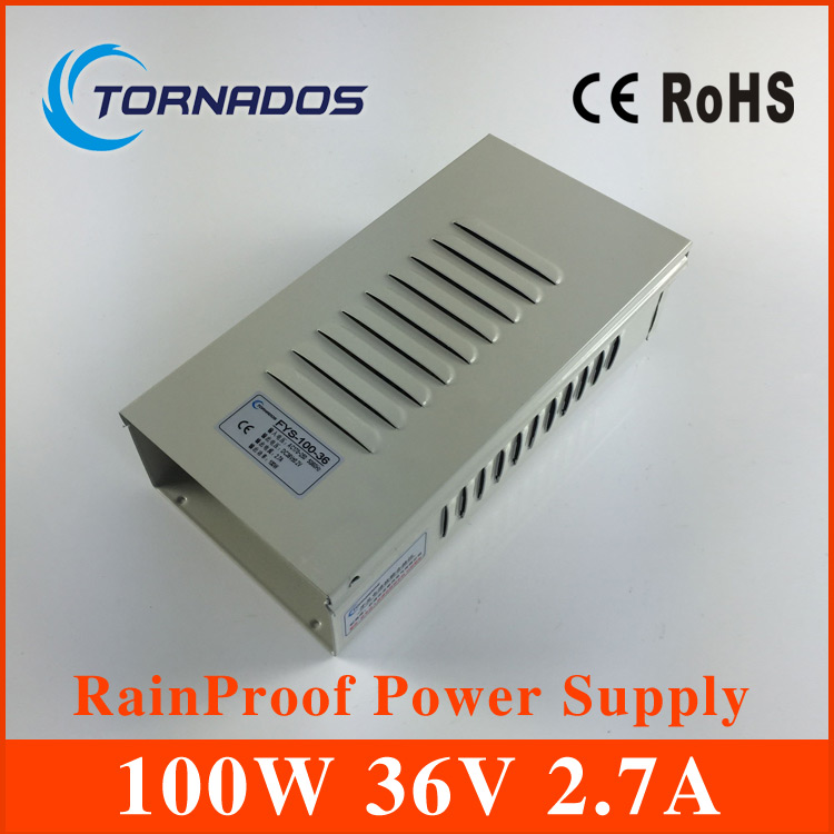 36V 100W switch mode power supply 2.7A SMPS 100W Rainproof adapter aluminum housing FY-100-36 5v4a switch power supply 5v20w 5v19w power supply aluminum shell