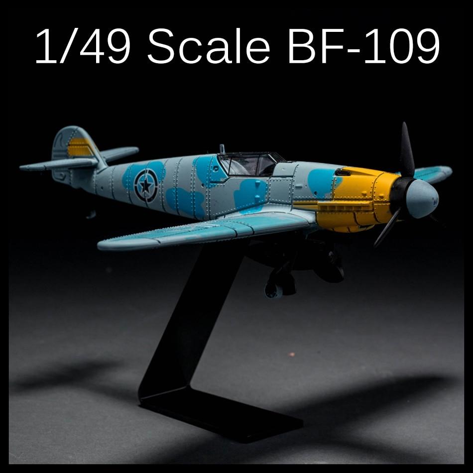 4D Model Plastic Aircraft playmobile brinquedos toys for children boys Model 1/49 Messerschmitt BF109 Fighter