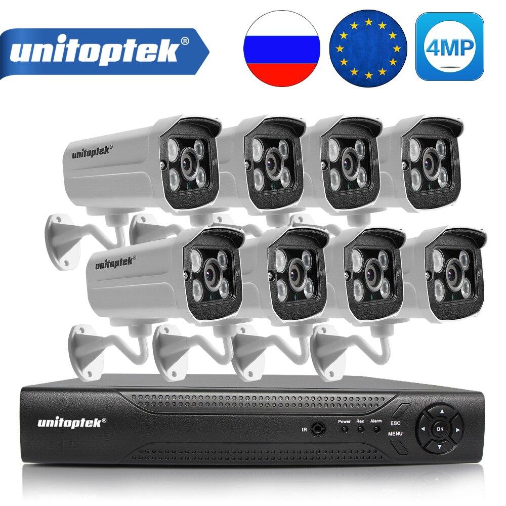 4Ch/8Ch HD H.265 4MP POE Caméra de Sécurité NVR CCTV Système Avec 2592*1520 Caméra IP de Nuit En Plein Air vision Vidéo Surveillance Kit