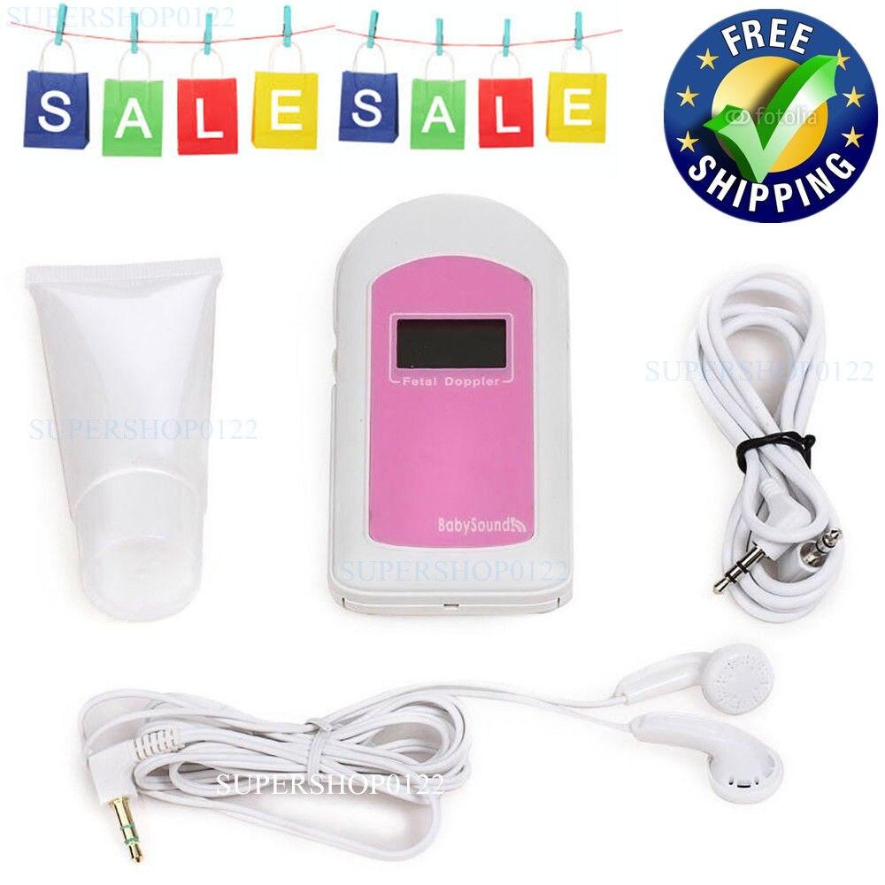 FREE Shipping CE&FDA DA LCD Handheld Pocket Fetal Doppler,Baby Heart Monitor,free Gel,Baby sound B
