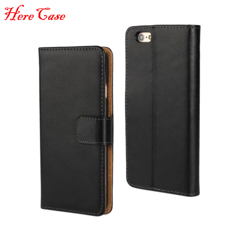 Retro Ultra Thin <font><b>Genuine</b></font> <font><b>Leather</b></font> Wallet <font><b>Case</b></font> For <font><b>iPhone</b></font> SE <font><b>5S</b></font> 6 6S 8 7 6 Plus X Stand Flip Card Holder Style Protective Cover image