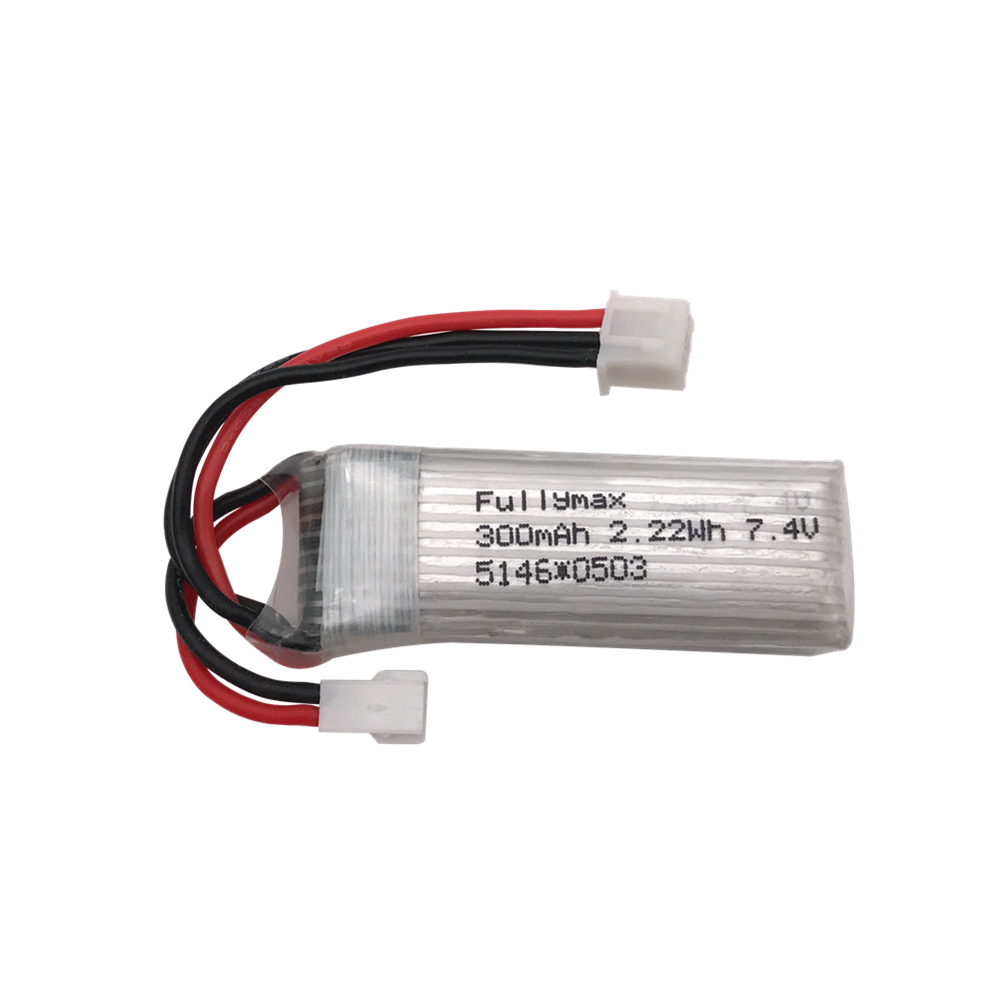 <font><b>7.4V</b></font> <font><b>300mAh</b></font> 25C Lipo <font><b>Battery</b></font> for XK DHC-2 A600 A700 A800 A430 WLToys F959 RC Airplane RTF image
