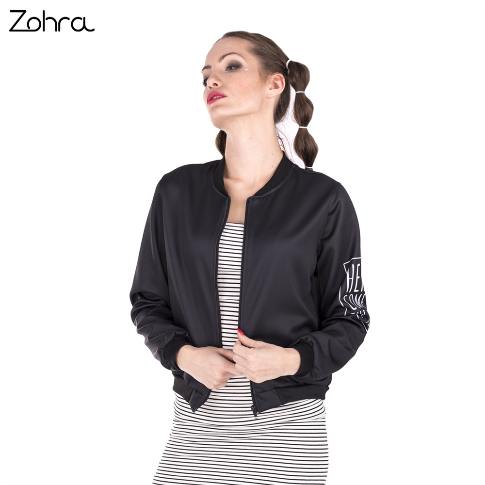 Zohra High Quality Women Bomber   Jacket   Holly Fries 3D Printing Jaqueta Feminina Fashion Cozy   Basic     Jacket   for Woman